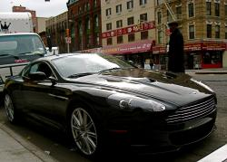 ASTON MARTIN DBS BLACK white