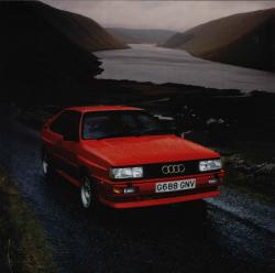 AUDI QUATTRO COUPE red