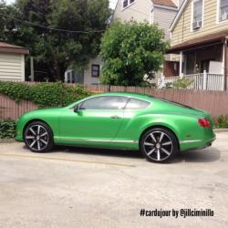 BENTLEY CONTINENTAL GT green