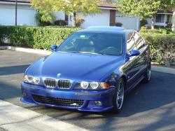 BMW 5 blue