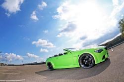 BMW 6 CABRIOLET green
