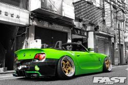 BMW Z4 green