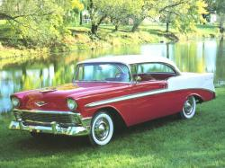 CHEVROLET BEL AIR COUPE red