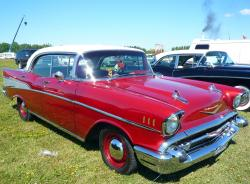 CHEVROLET BEL AIR red