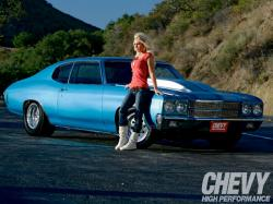 CHEVROLET CHEVELL SS blue