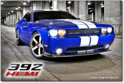 DODGE CHALLENGER 392 blue
