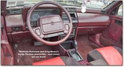 DODGE SHADOW interior