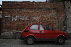 FIAT 126 red
