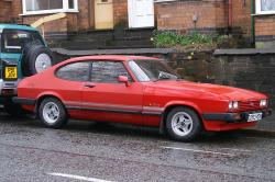 FORD CAPRI red