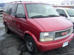 GMC SAFARI VAN red