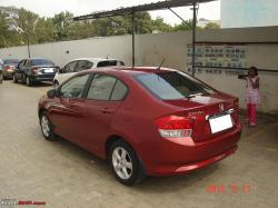 HONDA CITY red