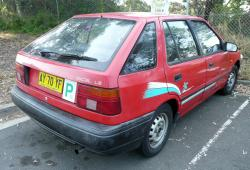 HYUNDAI EXCEL red