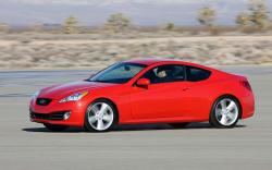 HYUNDAI GENESIS COUPE red