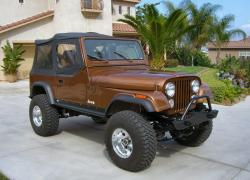 JEEP CJ 7 brown