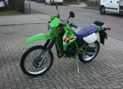 KAWASAKI 125 KMX green