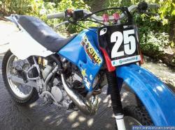 KAWASAKI KDX 125 blue