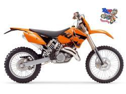KTM 125 EXC brown
