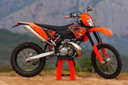 KTM 200 EXC red