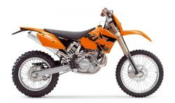 KTM 400 EXC white