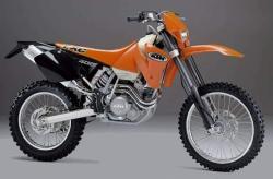 KTM EXC 400 red