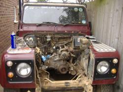 LAND ROVER DEFENDER engine