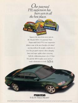 MAZDA MX-6 green