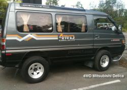 MITSUBISHI DELICA 4WD black
