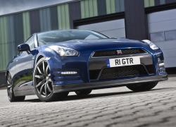 NISSAN GT-R blue