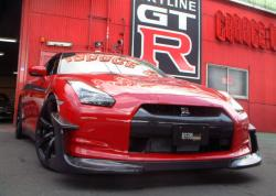 NISSAN GT-R red