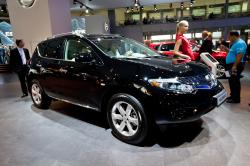 Moscow, Russia - August 25:  Black Jeep Car Nissan Murano At Moscow International Exhibition Interau by Rqs