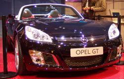 OPEL GT blue