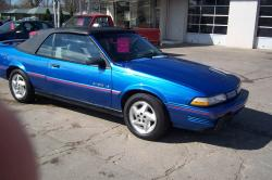PONTIAC SUNBIRD CONVERTIBLE red