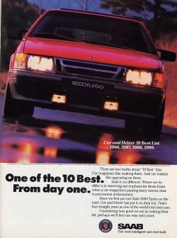 SAAB 9000 red