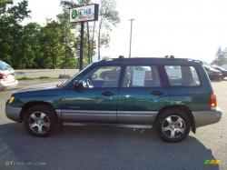 SUBARU FORESTER green