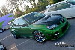 SUBARU IMPREZA green
