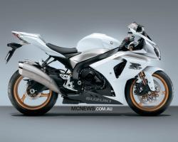 SUZUKI GSX 600 white