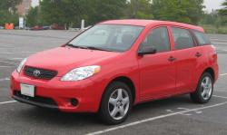 TOYOTA MATRIX red