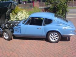 TRIUMPH GT6 blue