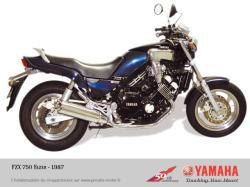 YAMAHA 750 FZX silver